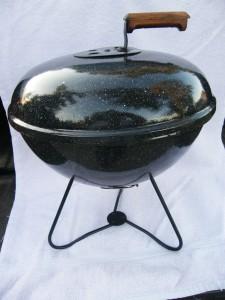 Vintage Speckled Weber Smokey Joe