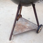 1956 Weber Grill with metal triangle