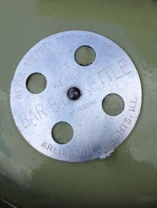 "18.5"" avacado kettle lid vent"