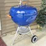 "26"" Weber blue kettle"