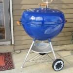"26"" Blue Weber kettle 3"