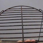 1960s Speckled Galley Que charcoal grate with tabs