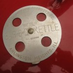 New 1973 red kettle lid vent
