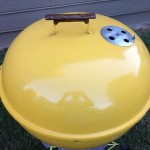 Early 1970's yellow kettle lid