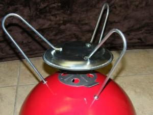 1988 red Smokey Joe leg assembly and vent