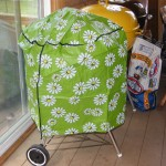 "22"" kettle cover flower pattern"