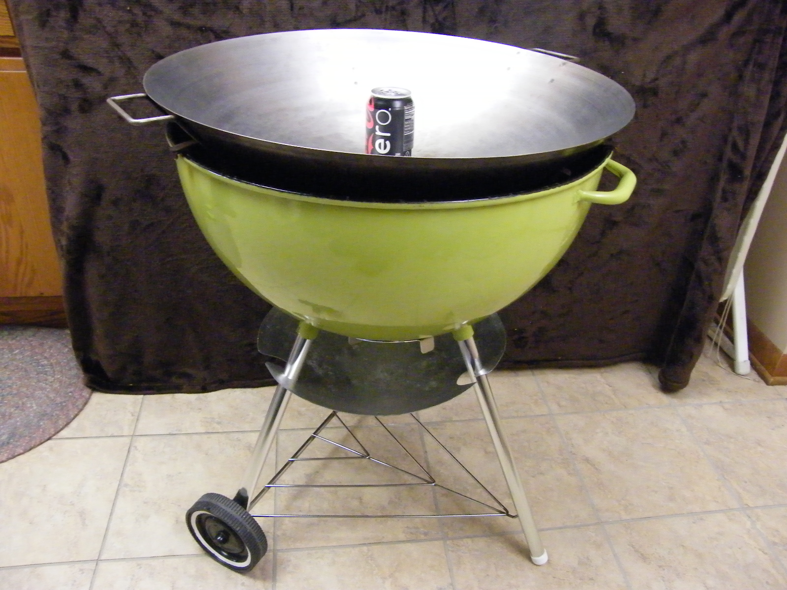vintage weber wok coolie pan weber kettle club. Black Bedroom Furniture Sets. Home Design Ideas