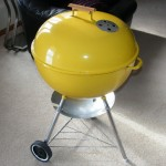 "1970's 22"" Yellow Weber Kettle"