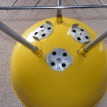 "1970's 22"" Yellow Weber Kettle bowl photo"