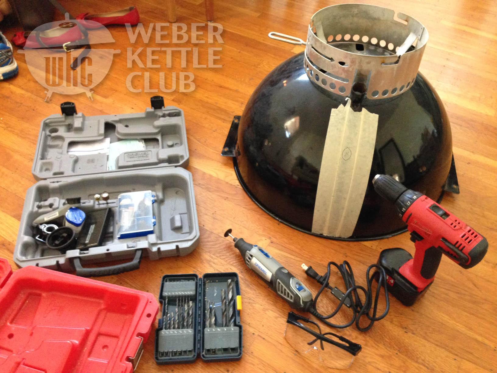 Weber Grill Mod Adding Gas Assist Weber Kettle Club