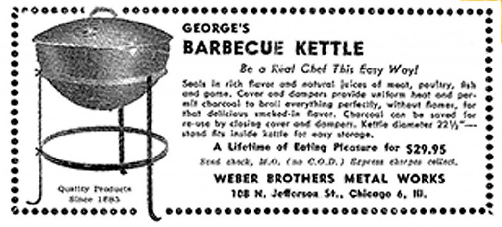 original weber kettle grill advertisement
