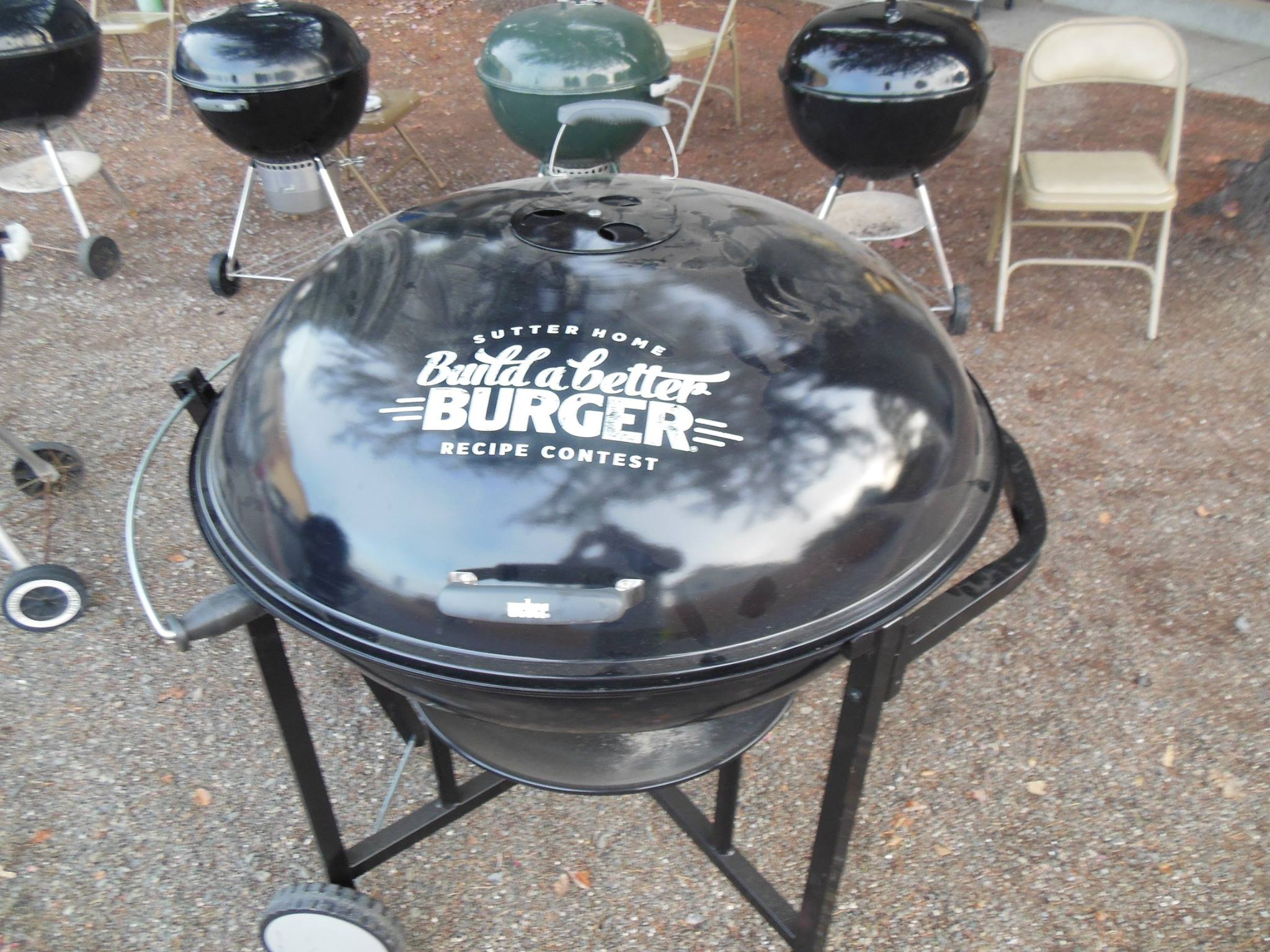 This rare Weber Ranch Kettle with a giant Sutter Home Build a Better Burger contest comes to us from Jim M on facebook We've only seen a small handful of Ranch kettles with logos.