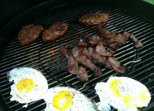 ColdKettle grilled EGGS on his Weber. EGGS!! GRILLED EGGS!
