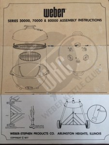 1977 Weber Assembly Instructions