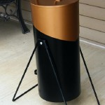 Weber charcoal caddy side and rear profile photo