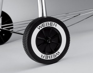 "The modern Weber wheel. 6"" in diameter. Found on Weber charcoal kettles 1977 and newer."