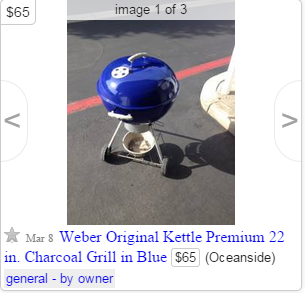 Finding Weber Grills on Craigslist - Weber Kettle Club