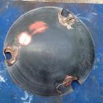 Weber Texan Steel ash pan underside