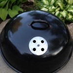 Weber Texan lid cleaned and detailed