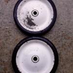 Weber Texan original wheels cleaned