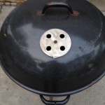 Texan top of lid in original used condition