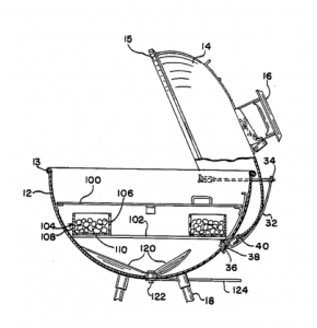 Weber One Touch Patent Drawing