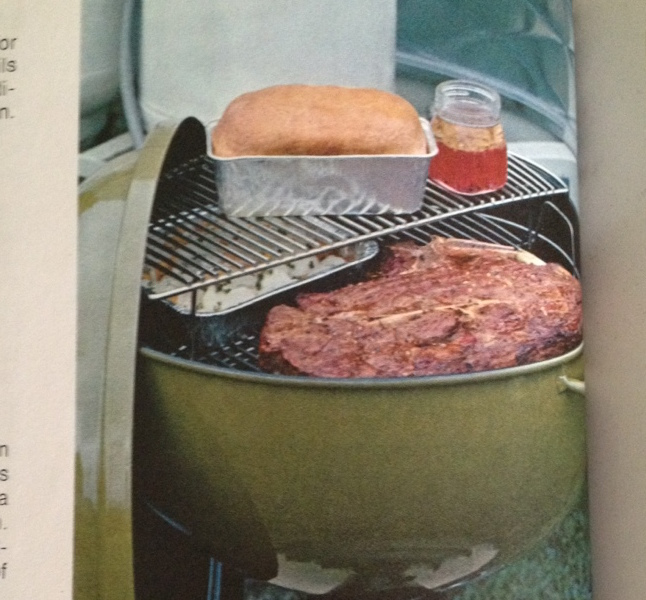 '72 Weber cookbook showing suggested use