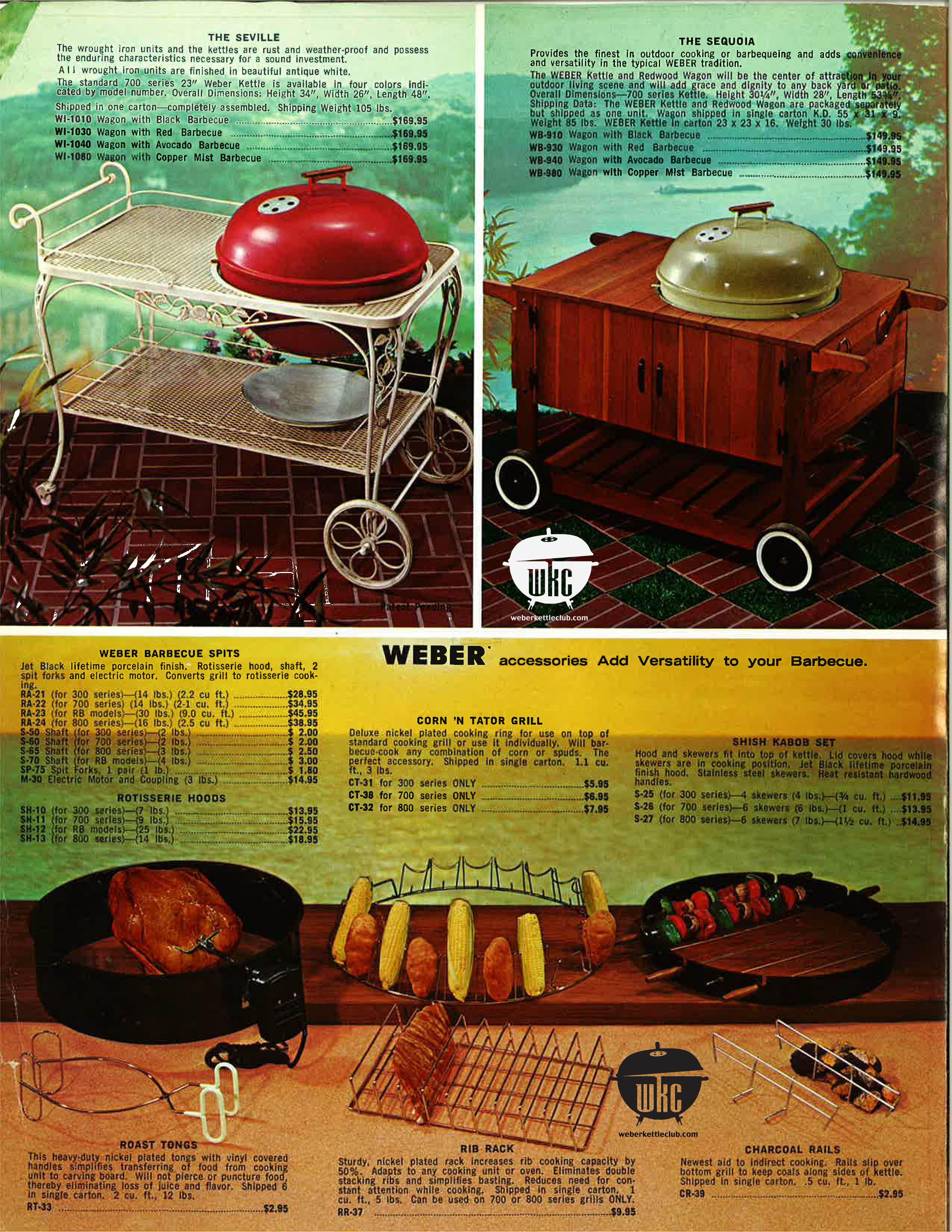 1969 Weber Catalog Weber Kettle Club