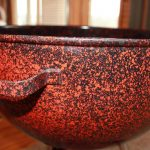 Orange and Black Speckled Custom bowl handle