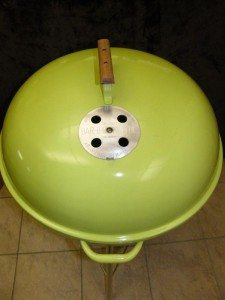 1974 Lime Green Kettle lid 2