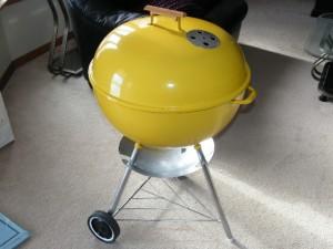 "1970's 22"" Yellow Weber Kettle"