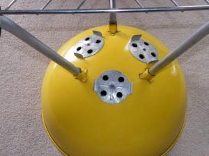 "1970's 22"" Yellow Weber Kettle bowl photo"