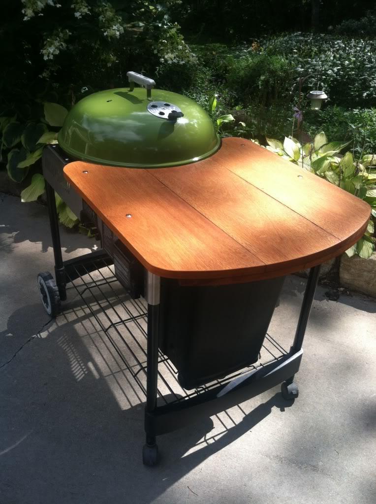 Weber Crate Amp Barrel Performer Wooden Table Mod Weber