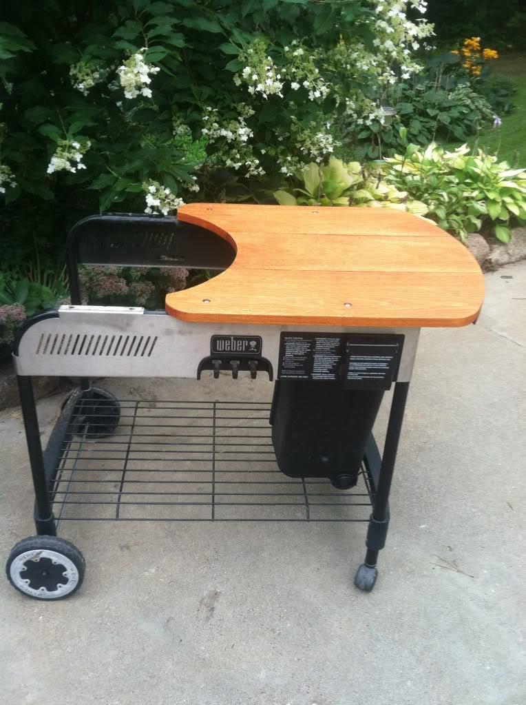 Weber Crate amp Barrel Performer Wooden Table Mod