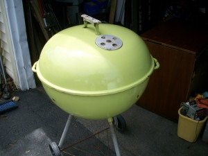 1970s Lime Weber Kettle on eBay