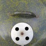 Close-up of charred's Custom, lid