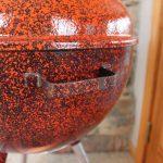 Orange and Black Speckled Custom front bowl handle
