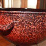 Orange and Black Speckled Custom bowl handle